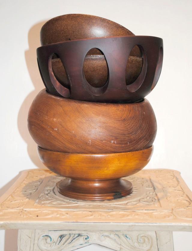 _Unpainted Wooden Bowls