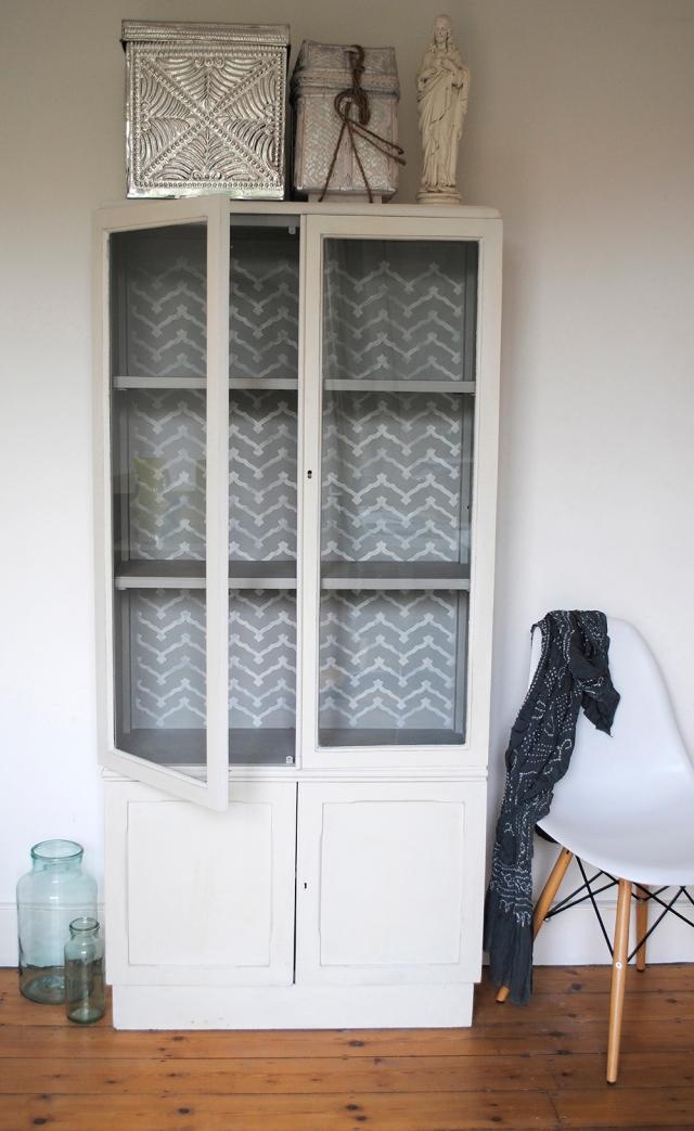 glazed cupboard b