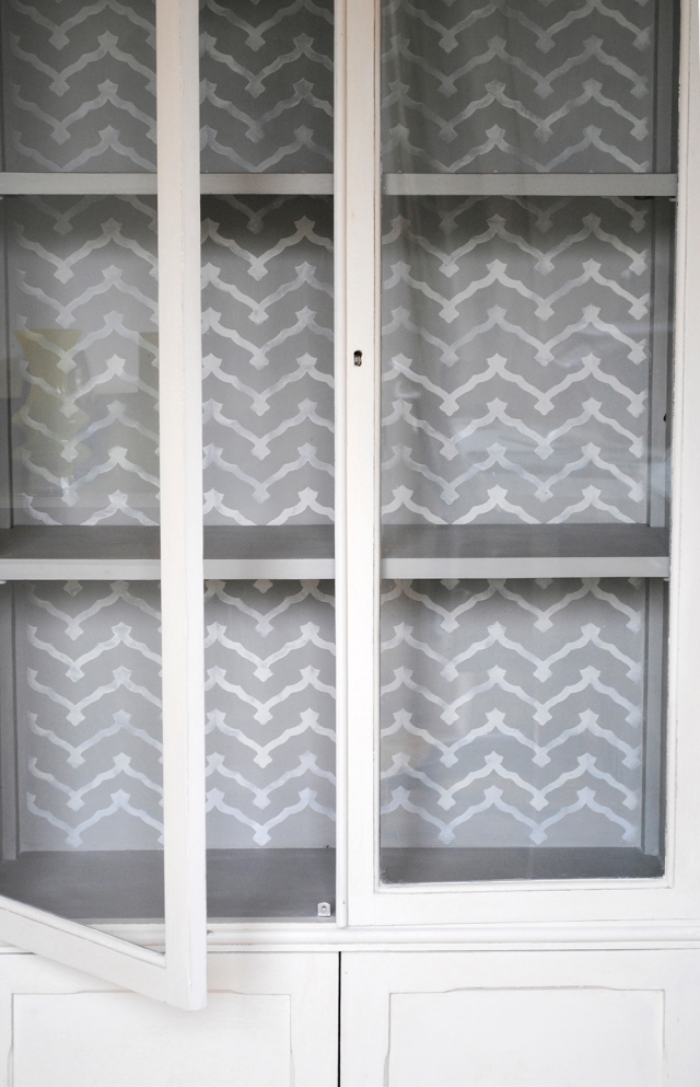 glazed cupboard interior b