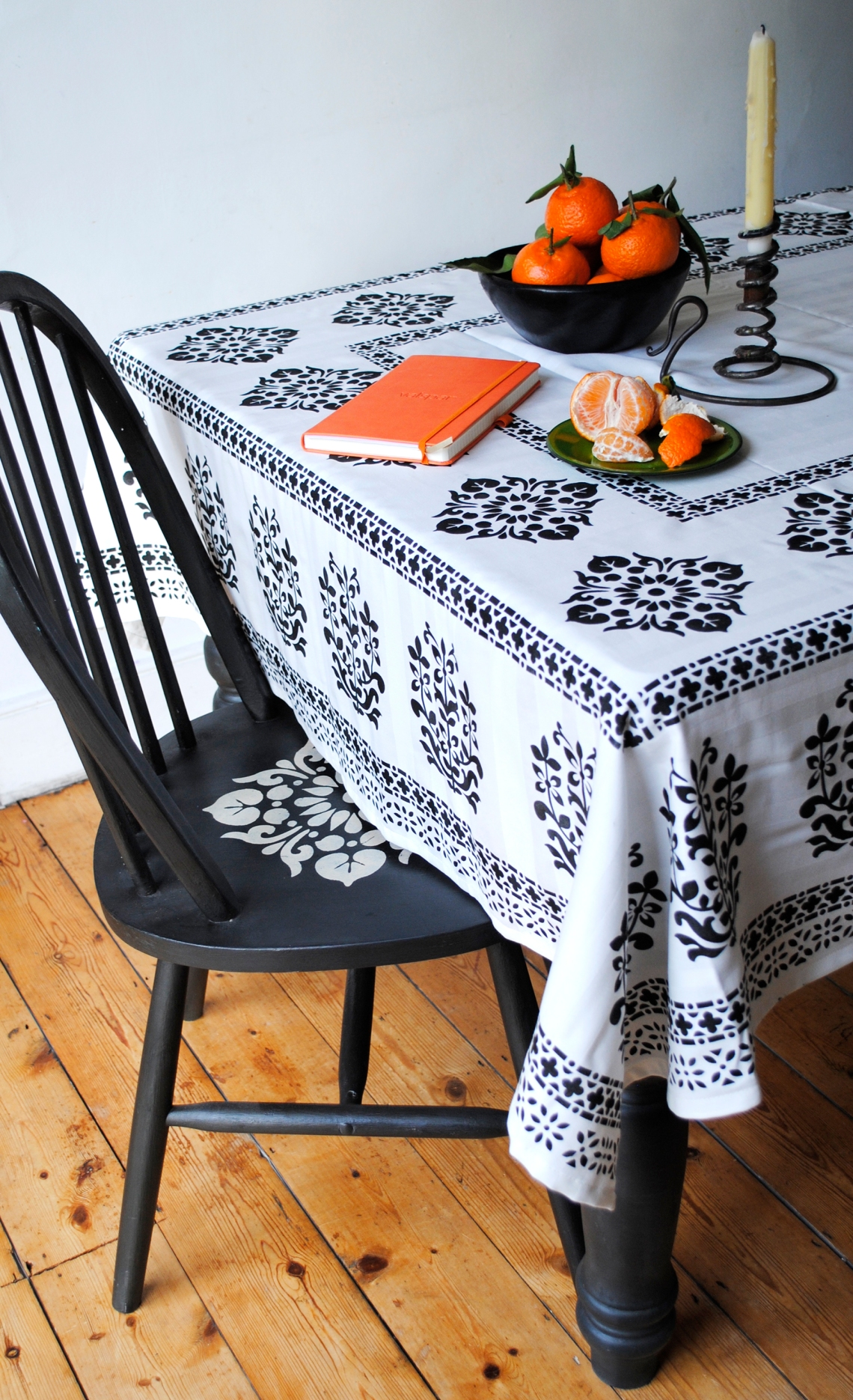 Stencilled Tablecloth 1