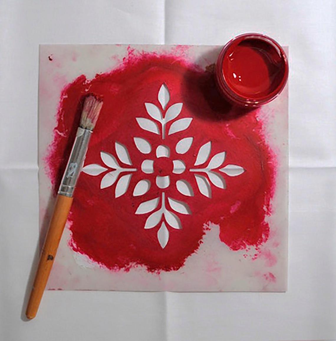Samode stencil in use